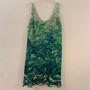 Cabi Castaway tropical print green Dress L